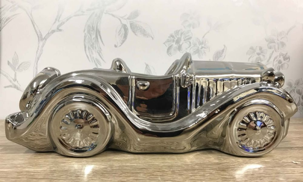 Silver Classic Car Collectable Ornament